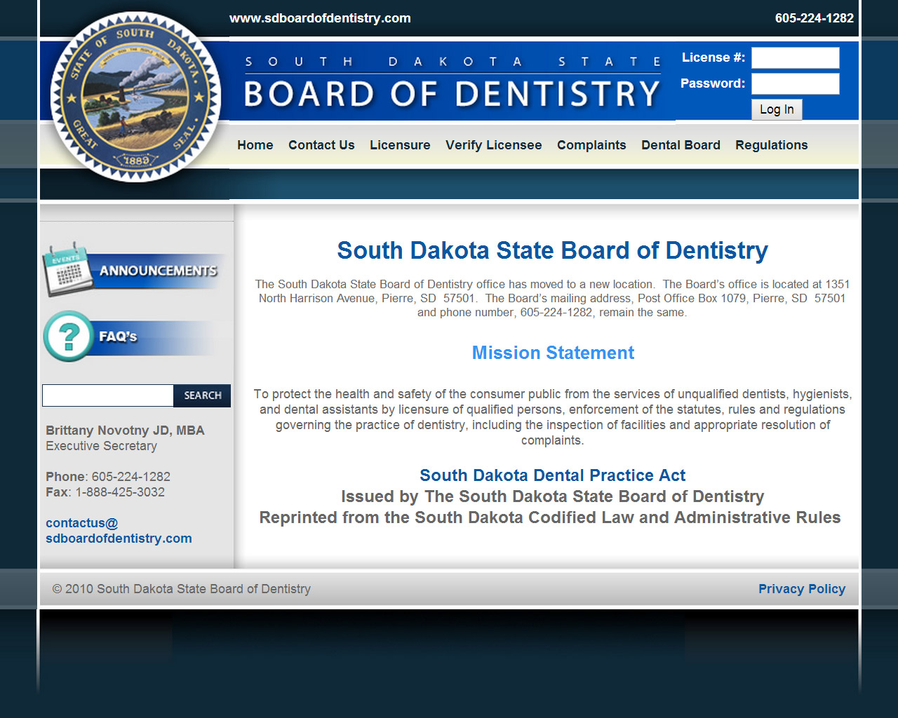 SD Board of Dentistry